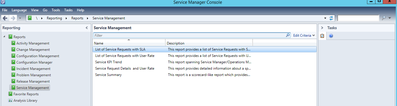 System Center 2012 Service Manager Service Request SLA Report